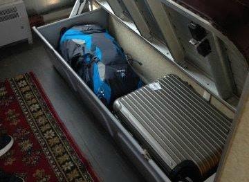 Koffer of backpack Transsiberië Express