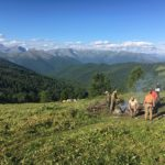 Kampvuur in de Altai - Rusland