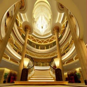 Cruise China - Yangtze rivier - lobby