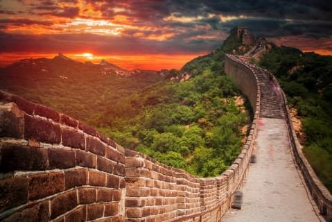 Chinese Muur Transmongolie Express.