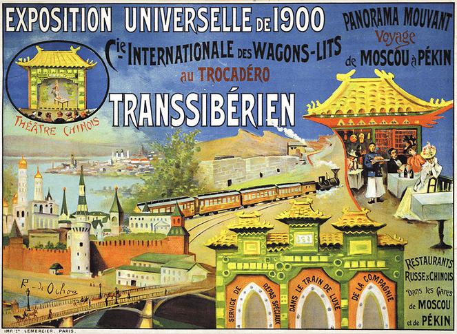 De Transsiberië Express op de Parijse Wereldtentoonstelling van 1900