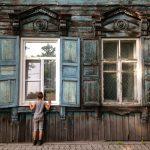 Houten huis Irkutsk - Rusland