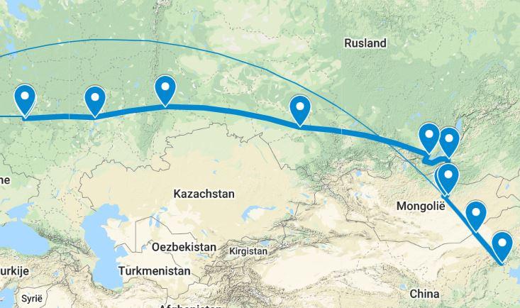 Transsiberië-Express-Groepsreis-Google-Maps