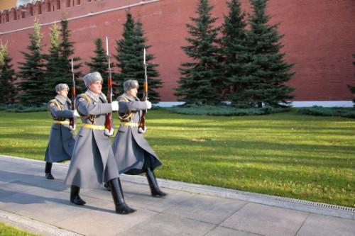Wisseling van de wacht - Kremlin - Moskou