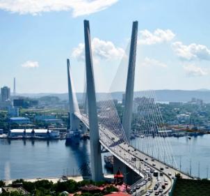 Zolotoy Bridge Vladivostok BAM Express