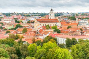 City of Vilnius - panorama of old town, Lithuania