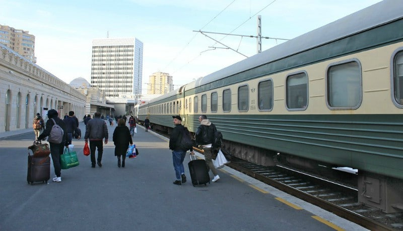 Treinreis Tbilisi naar Bakoe