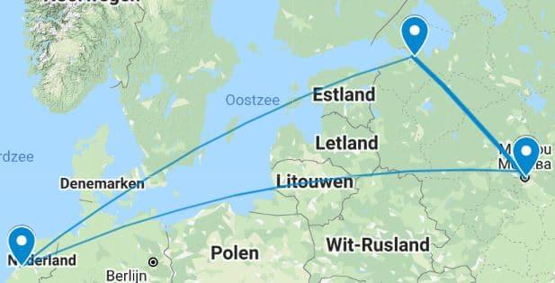 Dubele stedenreis Moskou St Petersburg