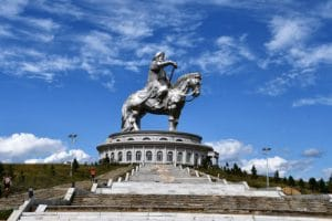 Dzjengis Khan - standbeeld in Mongolië (Mevo Reizen)