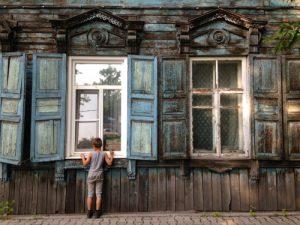 Houten huis Irkutsk - Rusland (Mevo Reizen)
