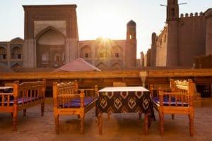 Ancient city of Khiva, Uzbekistan. UNESCO World Heritage