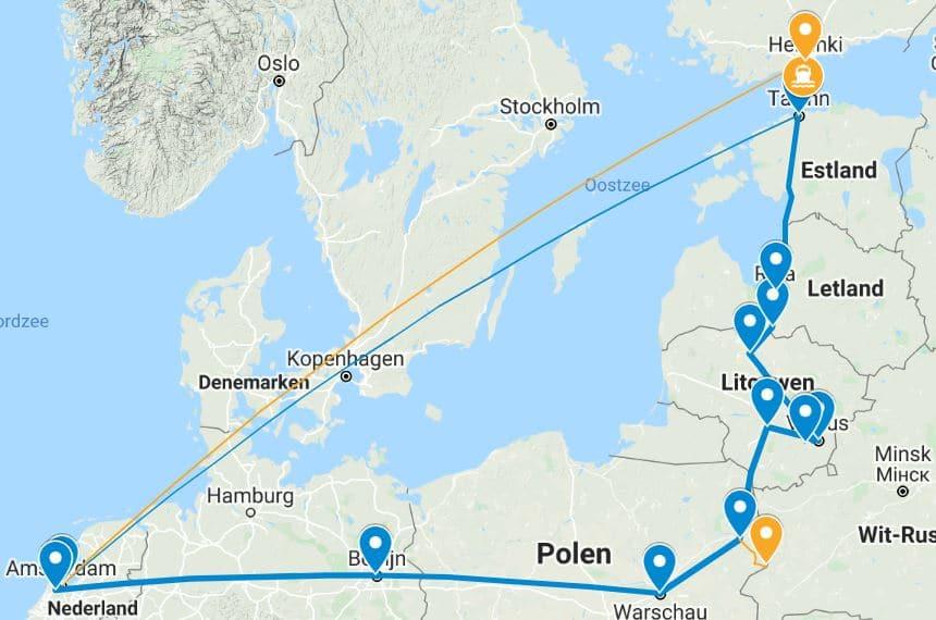 Rail Baltica per trein Baltische Staten