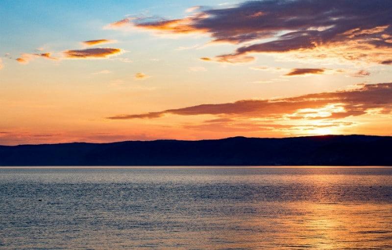 Baikalmeer zonsondergang
