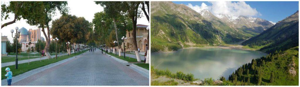Tashkent en Almaty Zijderoute