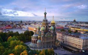 St.Petersburg kerk op het bloed