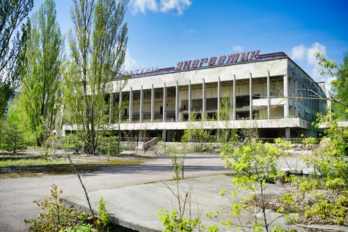 Tsjernobyl verlaten gebouw