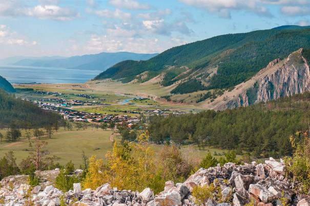 Uitzicht Baikalmeer