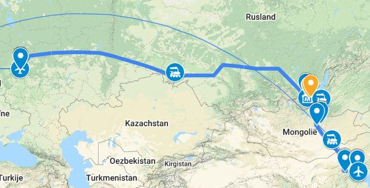 Transsiberië-Express-Google-Maps