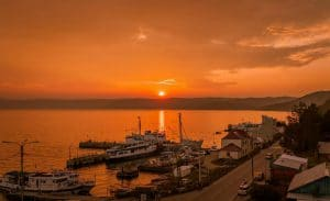 Listvianka zonsondergang - Rusland - Mevo Reizen