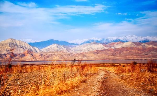 Landschap Kirgizië
