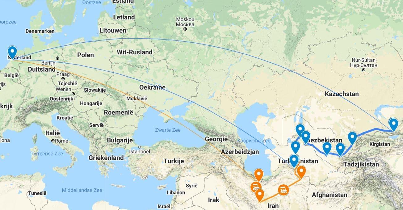 Zijderoute Groepsreis van Teheran naar Almaty