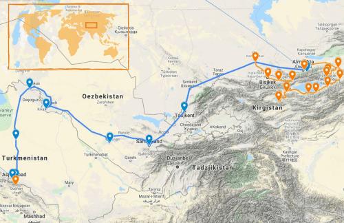 Rondreis Zijderoute van Ashgabat naar Almaty via Kirgizië (groepsreis)